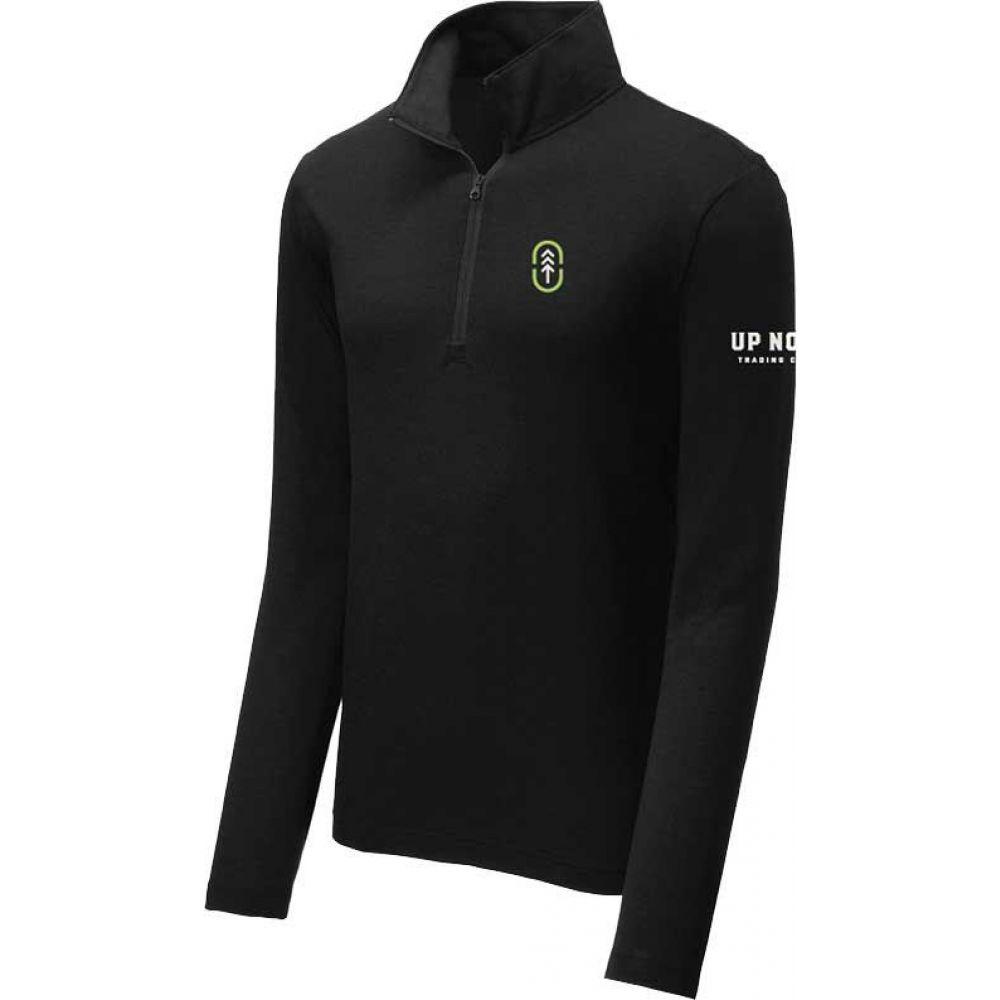 アップノーストレーディングカンパニー Up North Trading Company メンズ トップス【Athletic Quarter Zip Pullover】Black