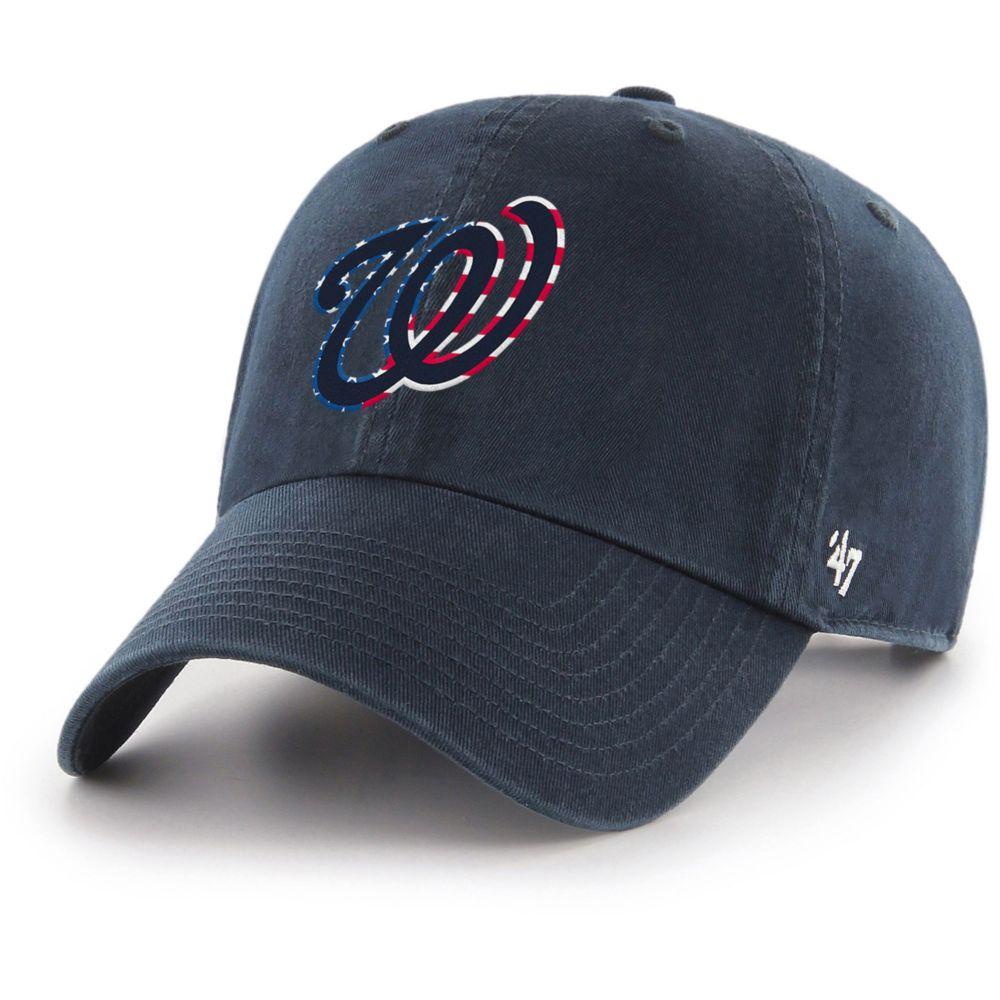 47ブランド 47 メンズ キャップ 帽子【washington nationals spring banner clean up navy adjustable hat】