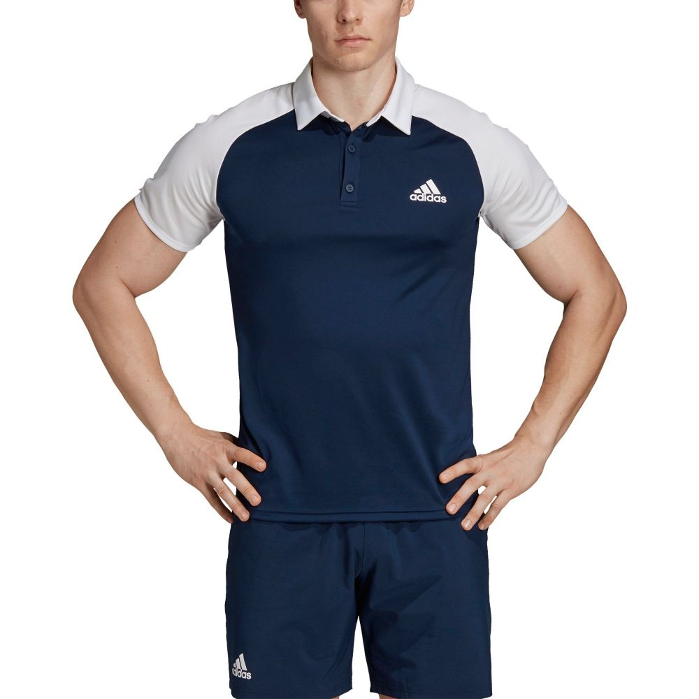アディダス adidas メンズ テニス adidas トップス テニス【Club Color-Block メンズ Tennis Polo】Collegiate Navy/White, コウフシ:28039183 --- officewill.xsrv.jp