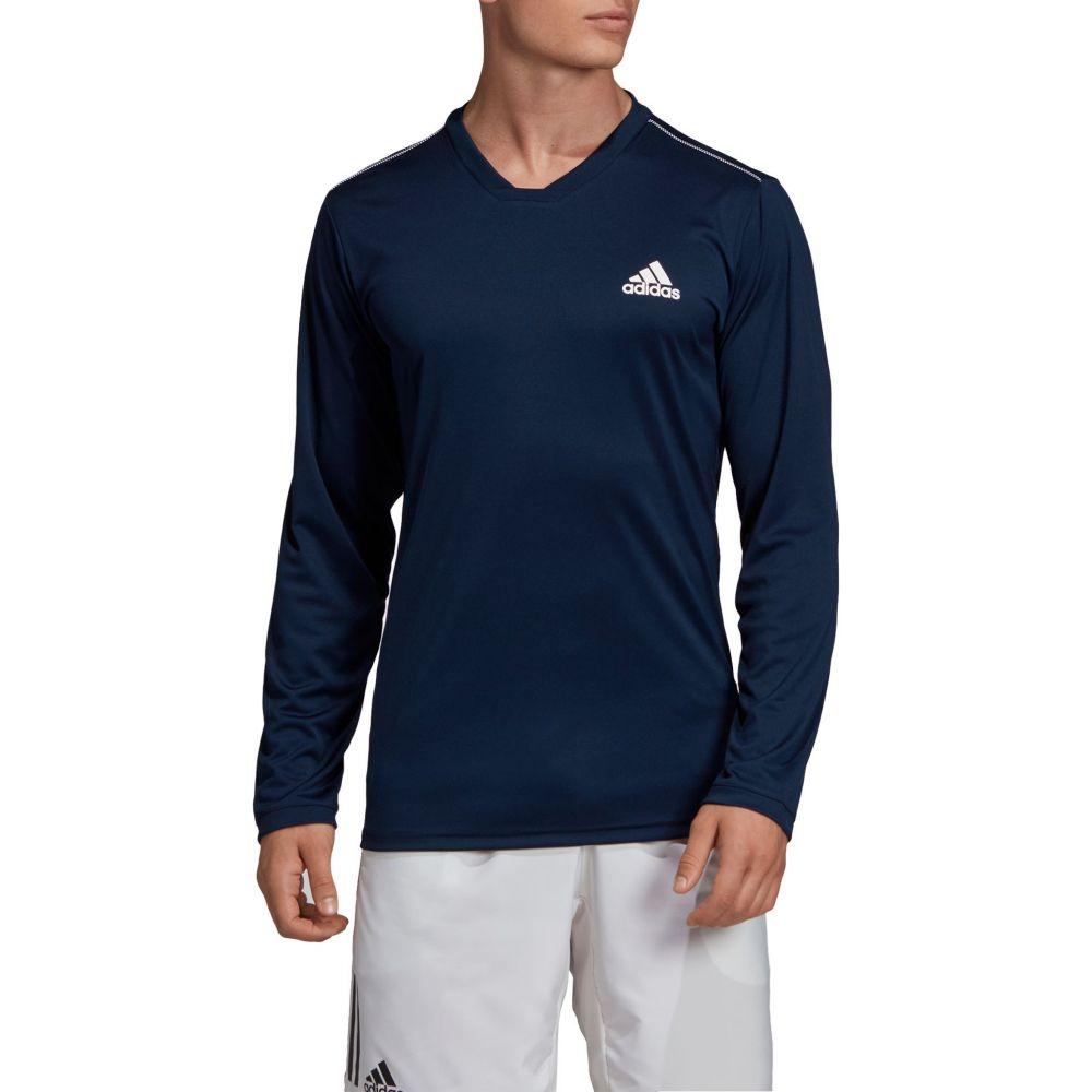 アディダス adidas メンズ テニス トップス【Club Long UV テニス Protect UV Long Sleeve Tennis T-Shirt】Collegiate Navy/White, DSKワイン:c4b2e1c5 --- officewill.xsrv.jp