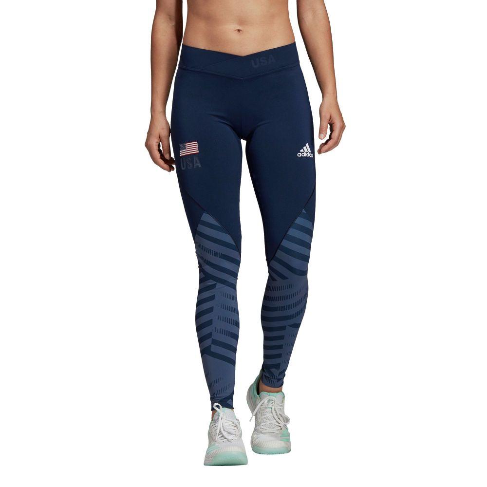 アディダス adidas レディース バレーボール ボトムス Tights】Collg・パンツ【Adidas レディース Alphaskin Blue/White USA Volleyball Long Tights】Collg Nvy/Mnrl Blue/White, フナハシムラ:9c0531fa --- officewill.xsrv.jp
