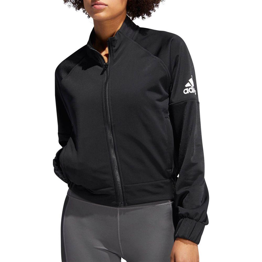 アディダス adidas レディース フィットネス・トレーニング アウター【Fashion Training Jacket】Black