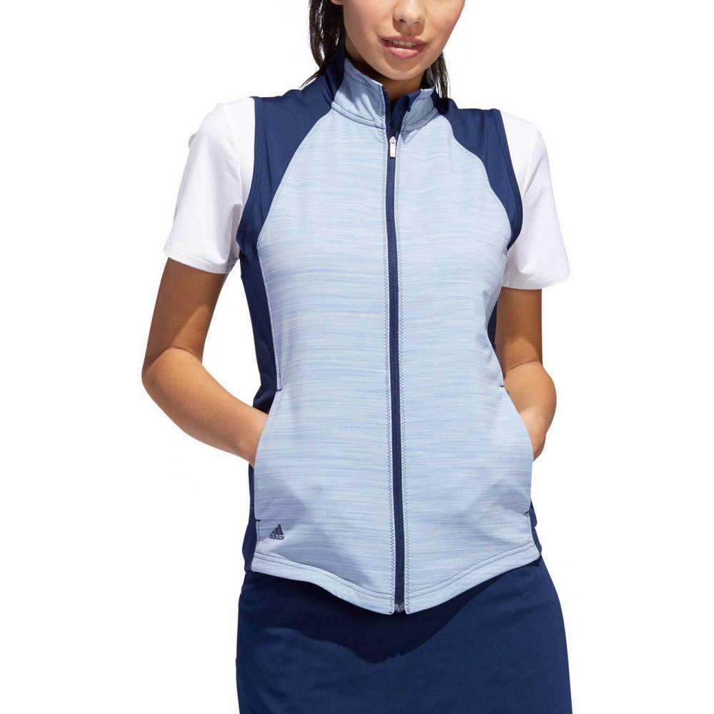 アディダス adidas レディース ゴルフ ノースリーブ トップス【full-zip golf vest】Night Indigo