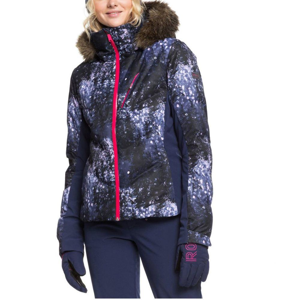 ロキシー Roxy レディース スキー・スノーボード アウター【Plus Size Snowstorm Snow Jacket】Medieval Blue Sparkles