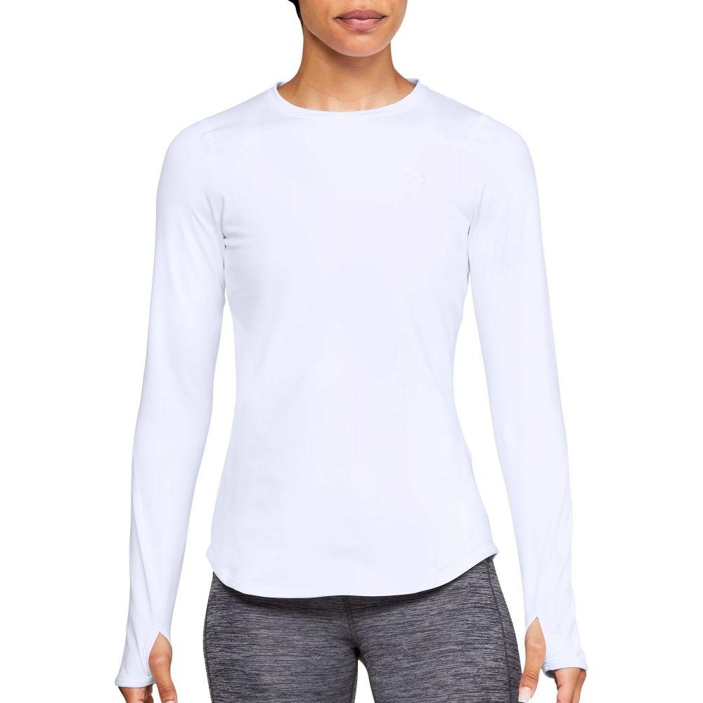 アンダーアーマー Under Armour レディース トップス 長袖Tシャツ【ColdGear Armour Crew Long Sleeve Shirt】White
