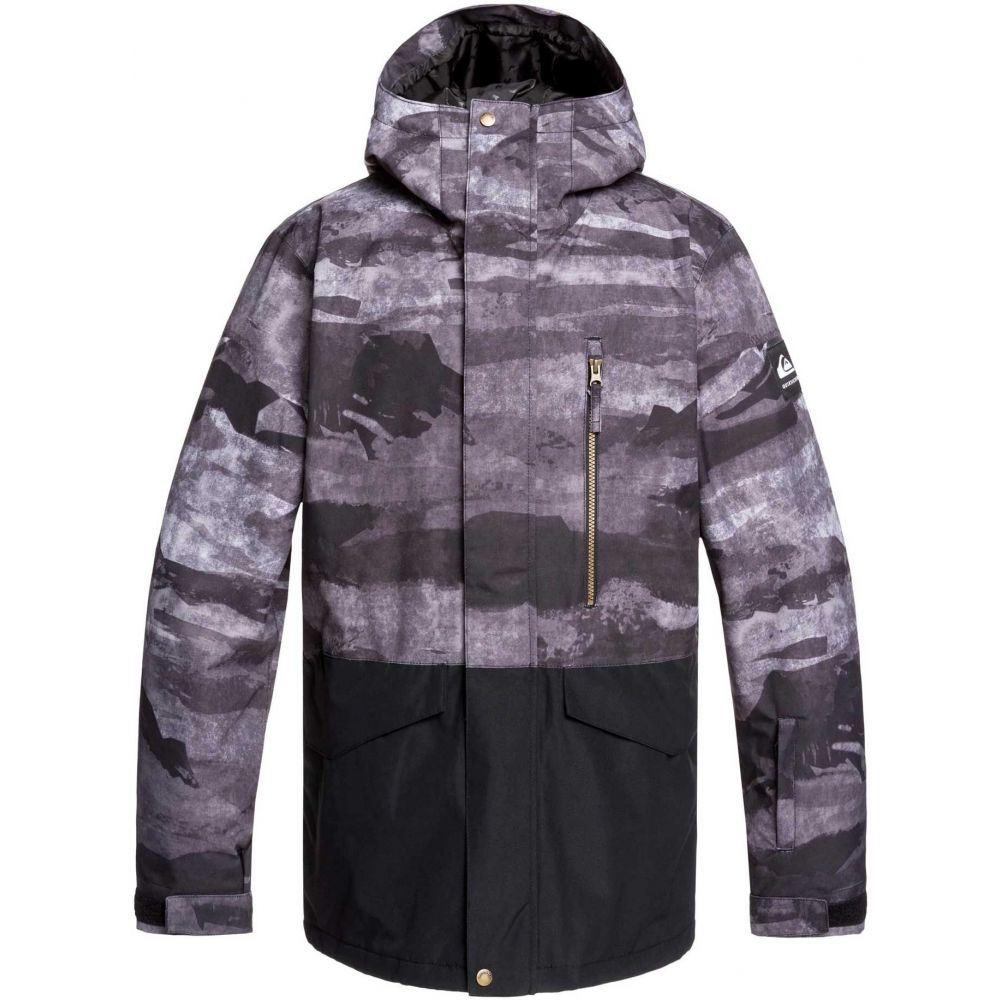 クイックシルバー Quiksilver メンズ アウター ジャケット【Mission Printed Block Snow Jacket】Black Mat Paint