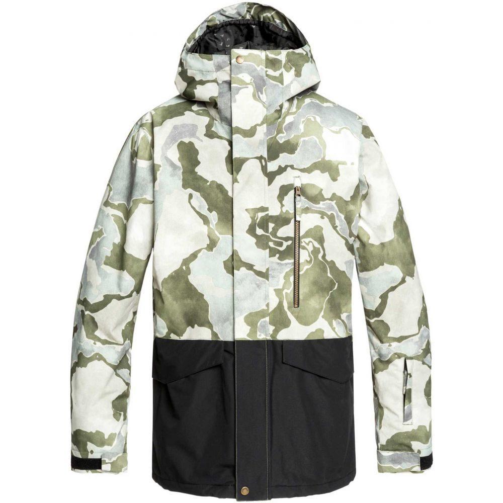 クイックシルバー Quiksilver メンズ アウター ジャケット【Mission Printed Block Snow Jacket】Grape Leaf Sir Edwards