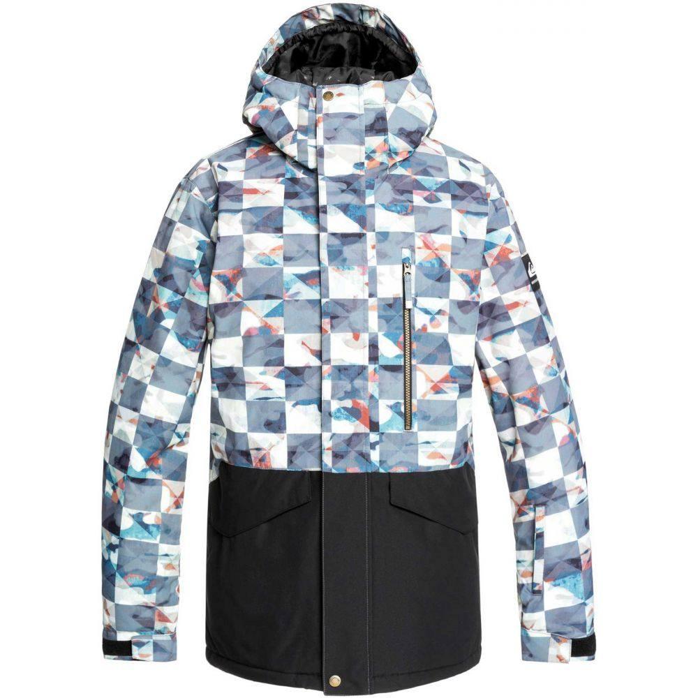 クイックシルバー Quiksilver メンズ アウター ジャケット【Mission Printed Block Snow Jacket】Barn Red Ongrid