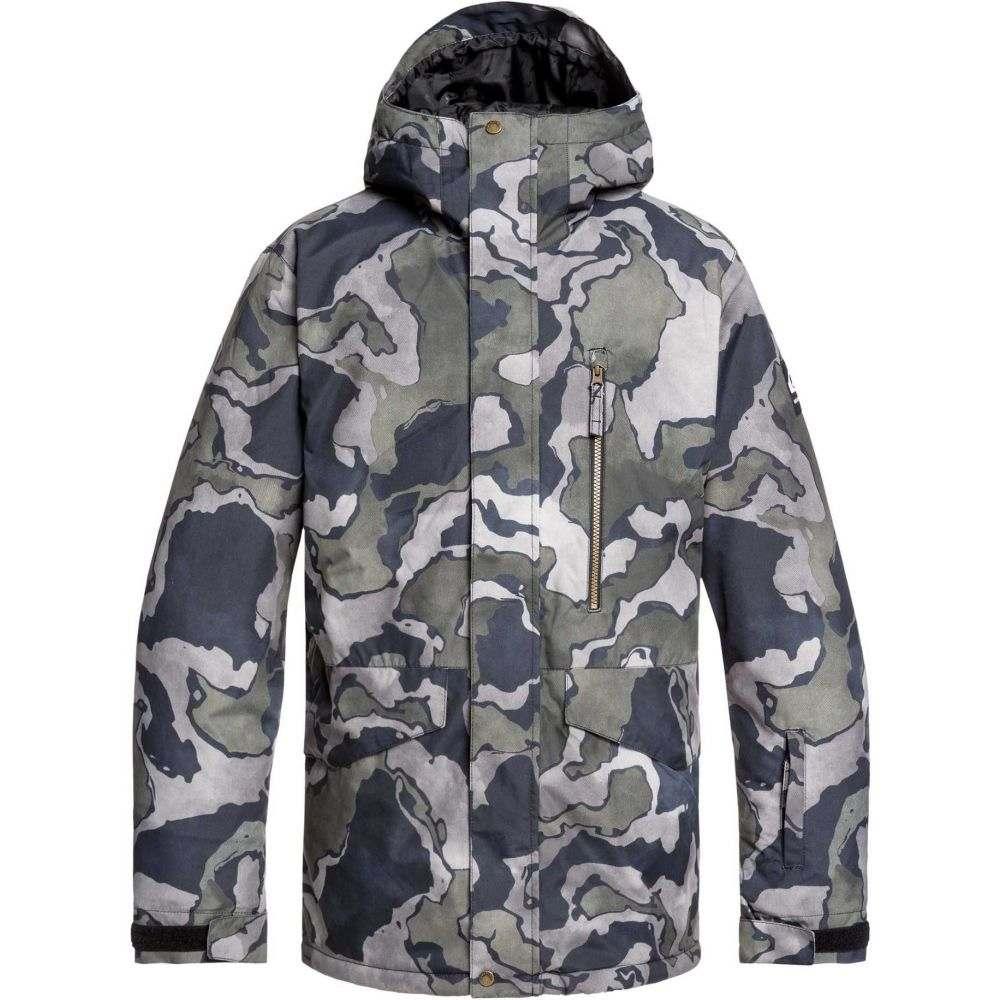 クイックシルバー Quiksilver メンズ アウター ジャケット【Mission Printed Snow Jacket】Black Sir Edwards