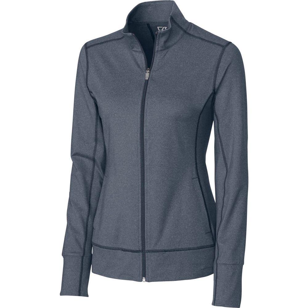 カッター&バック Cutter & Buck レディース ゴルフ アウター【DryTec Topspin Full-Zip Golf Jacket】Navy Blue Heather