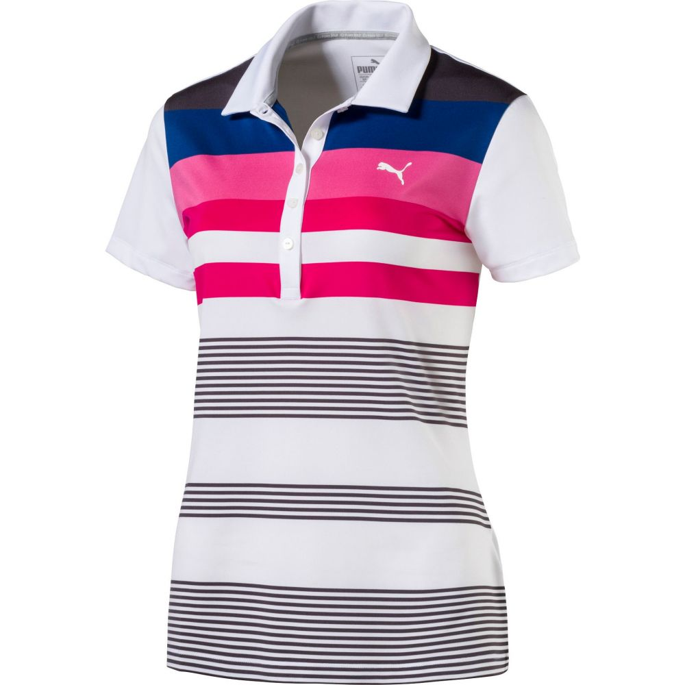 プーマ PUMA レディース ゴルフ トップス【Road Map Golf Polo】Bright White/Shocking Pink
