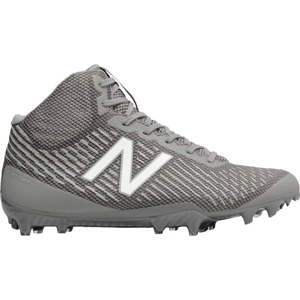 ニューバランス New Balance メンズ ラクロス シューズ・靴【Burn X Mid Lacrosse Cleats】Grey/White