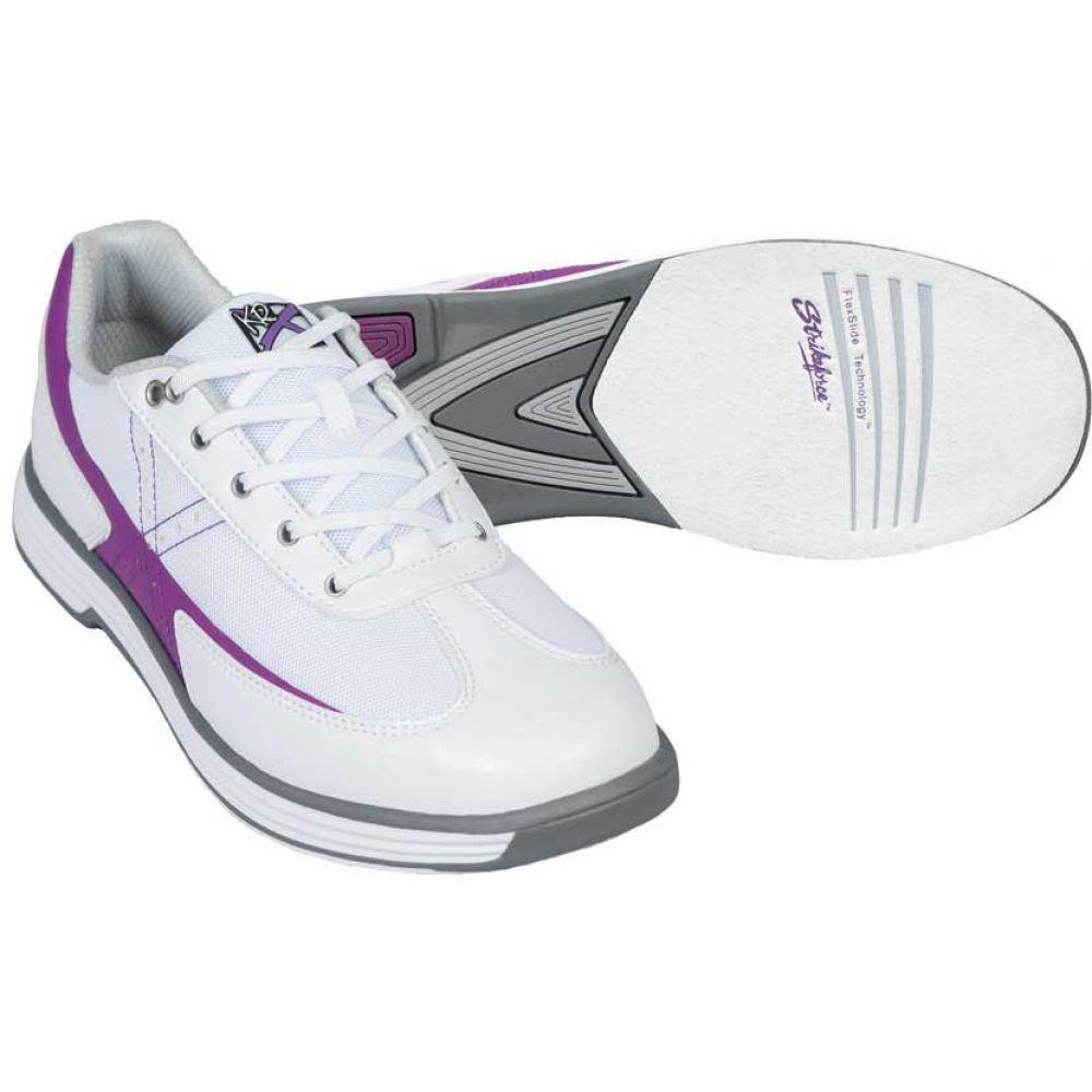 ストライクフォース Strikeforce レディース ボウリング シューズ・靴【Flex Bowling Shoes】White/Grape