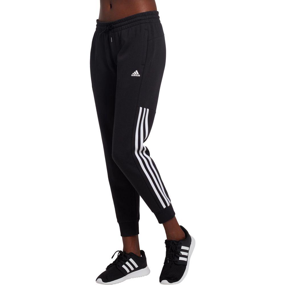 アディダス adidas レディース ボトムス・パンツ ジョガーパンツ【Post Game Solid 3-Stripe Jogger Pants】Black/White