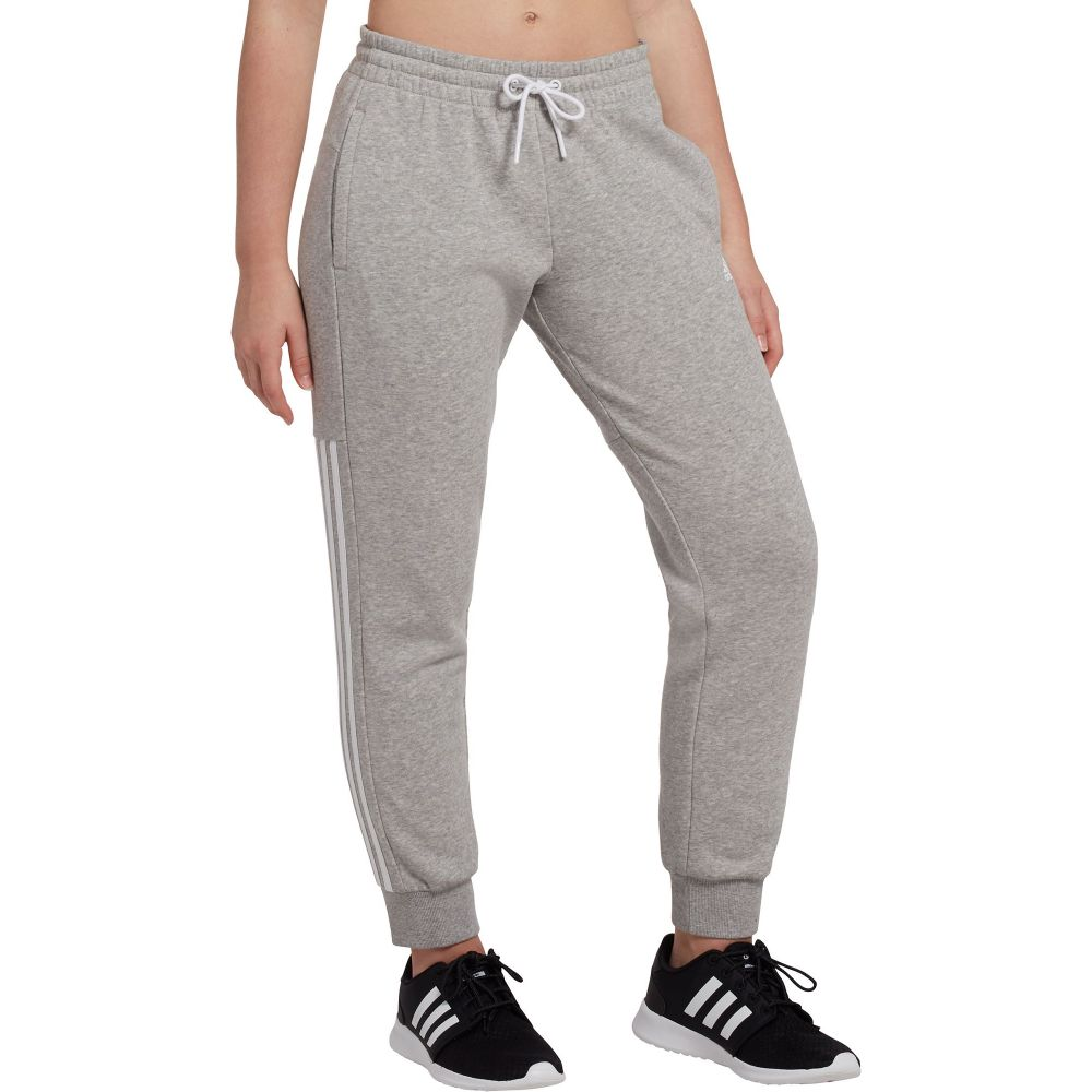 アディダス adidas レディース ボトムス・パンツ ジョガーパンツ【Post Game Solid 3-Stripe Jogger Pants】Mgh/White