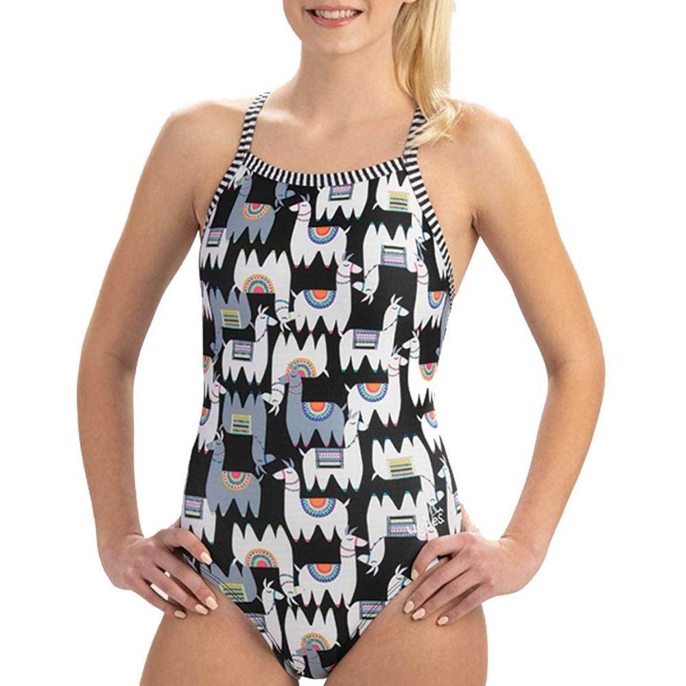 ドルフィン Dolfin レディース 水着・ビーチウェア ワンピース【Uglies Print V-2 Back One Piece Swimsuit】Alpaca Party