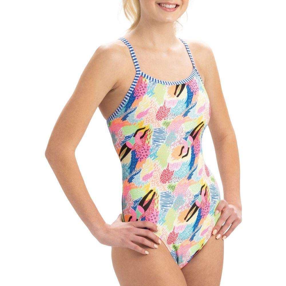 ドルフィン Dolfin レディース 水着・ビーチウェア ワンピース【Uglies Print Double Strap Back One Piece Swimsuit】Dive Deep