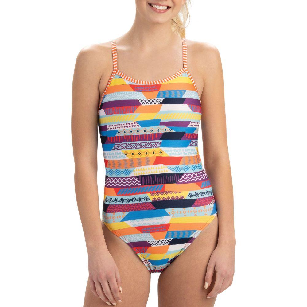 ドルフィン Dolfin レディース 水着・ビーチウェア ワンピース【Uglies Print Double Strap Back One Piece Swimsuit】Stripe Life