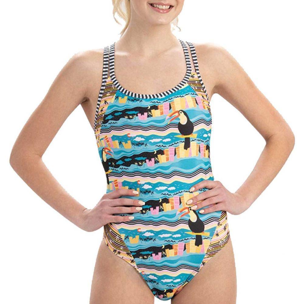ドルフィン Dolfin レディース 水着・ビーチウェア ワンピース【Uglies Double Strap Open Keyhole Back One Piece Swimsuit】Toucan