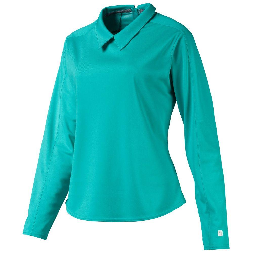 プーマ PUMA レディース ゴルフ トップス【Long Sleeve Golf Polo】Blue Turquoise