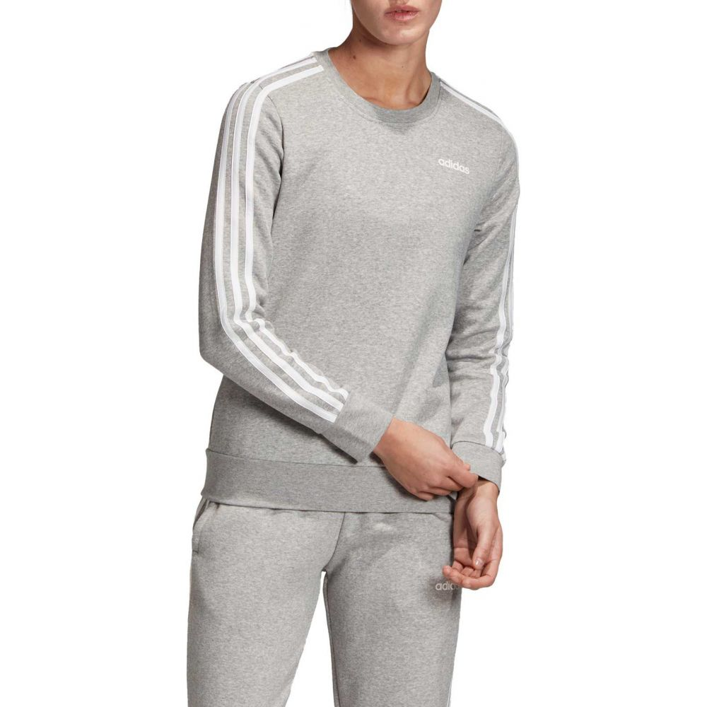 アディダス adidas レディース スウェット・トレーナー トップス【Essentials 3-Stripes Crew Neck Sweatshirt】MGH