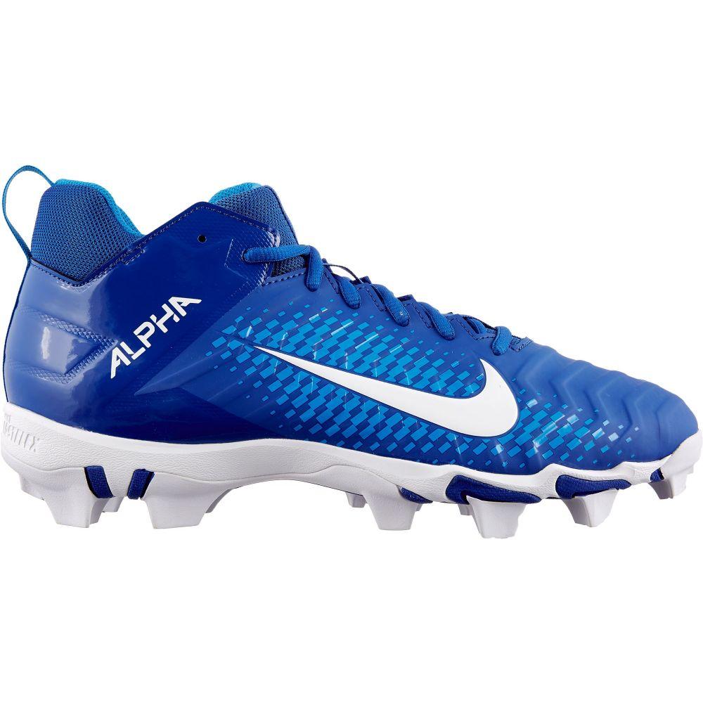 ナイキ Nike メンズ アメリカンフットボール スパイク シューズ・靴【Alpha Menace Shark 2 Mid Football Cleats】Royal/White