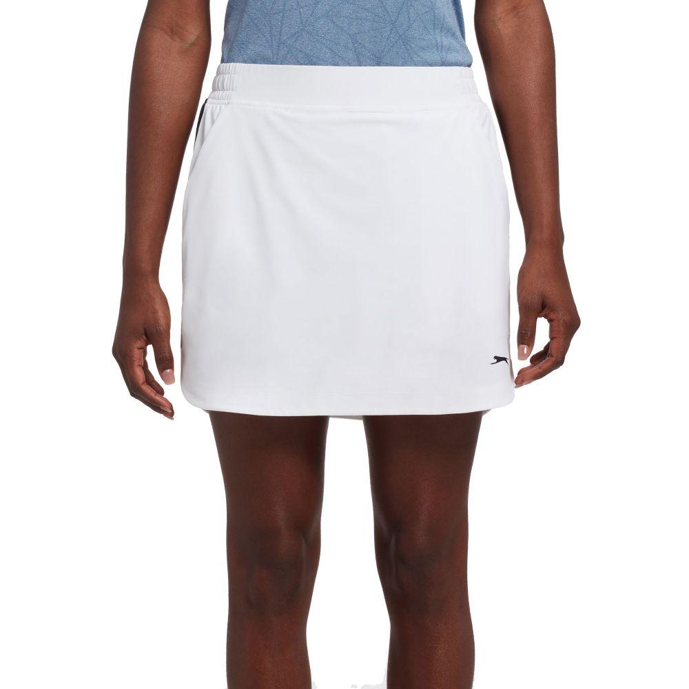 スラセンジャー Slazenger レディース ゴルフ スカート ボトムス・パンツ【SOHO Side Piece Pull-On Golf Skort】White
