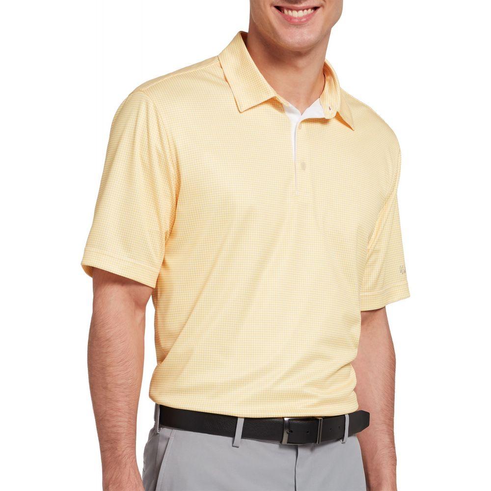 ウォルターヘーゲン Walter Hagen メンズ ゴルフ ポロシャツ トップス【Essentials Houndstooth Printed Golf Polo】ゴールドen 黄