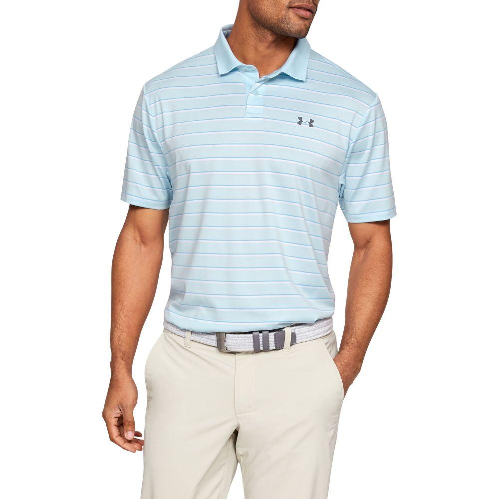 アンダーアーマー Under Armour メンズ ゴルフ ポロシャツ トップス【Performance 2.0 Textured Golf Polo】Coded Blue/Boho Blue