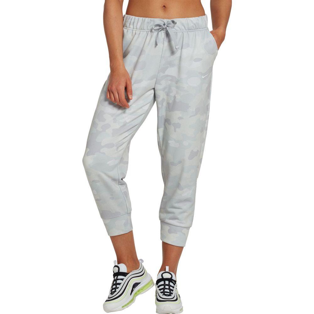 ナイキ Nike レディース スウェット・ジャージ ドライフィット ボトムス・パンツ【Dri-FIT Rebel Fleece 7/8 Training Pants】Wolf Grey