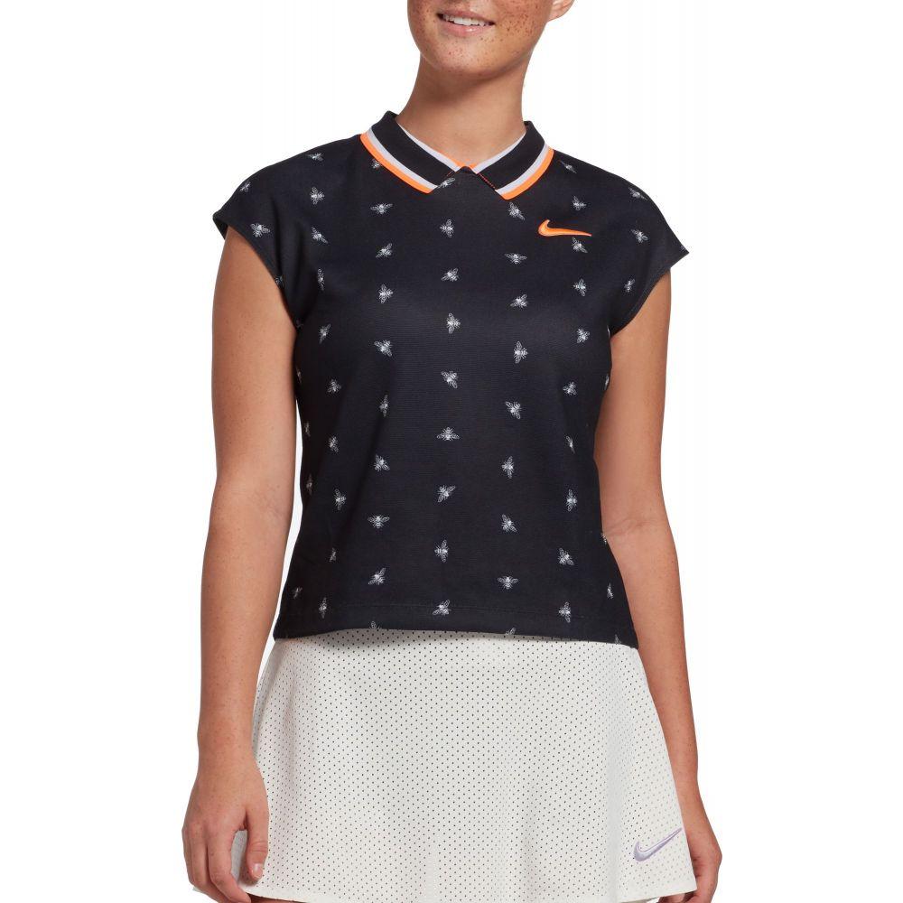 ナイキ Nike レディース テニス ドライフィット トップス【Dri-FIT Bee Tennis Top】Black