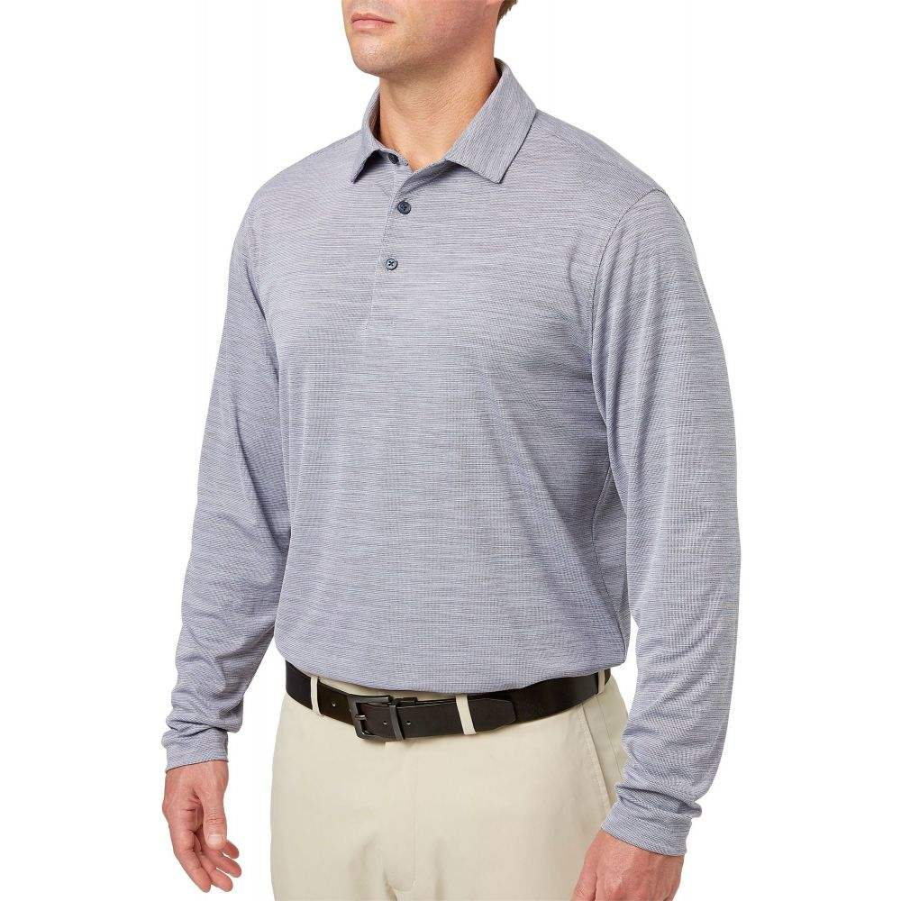 ウォルターヘーゲン Walter Hagen メンズ ゴルフ ポロシャツ トップス【Long Sleeve Heather Golf Polo】Navy Heather