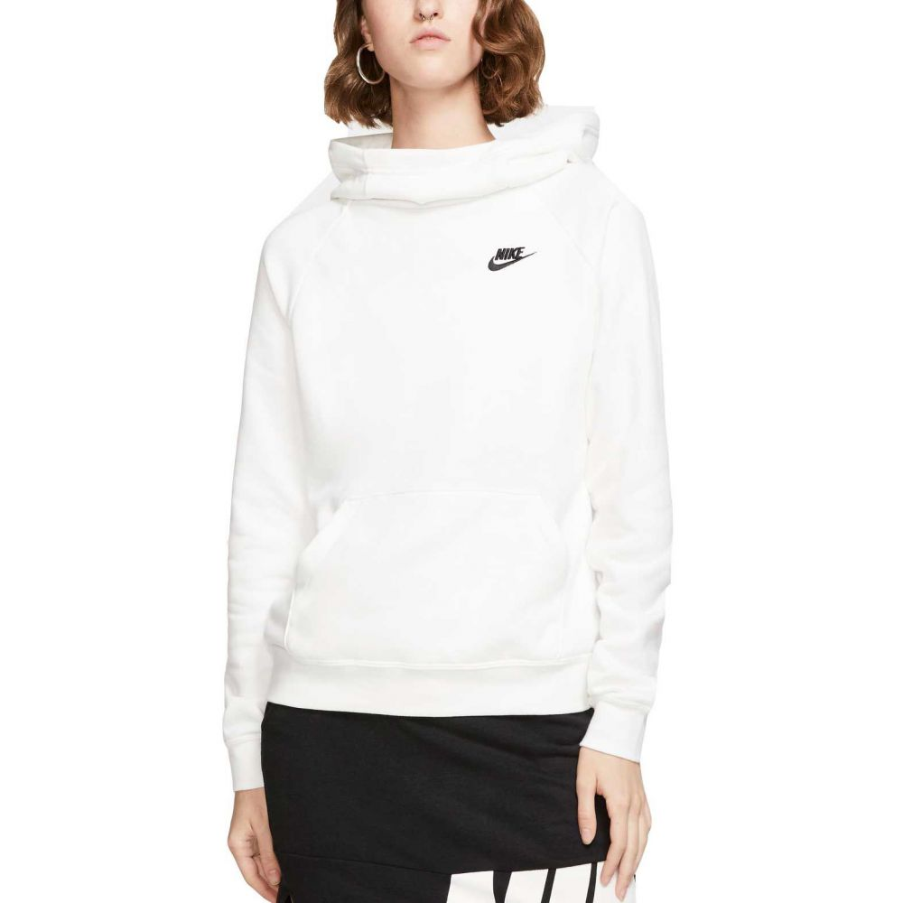 ナイキ Nike レディース パーカー トップス【Sportswear Essential Funnel Neck Fleece Hoodie】White