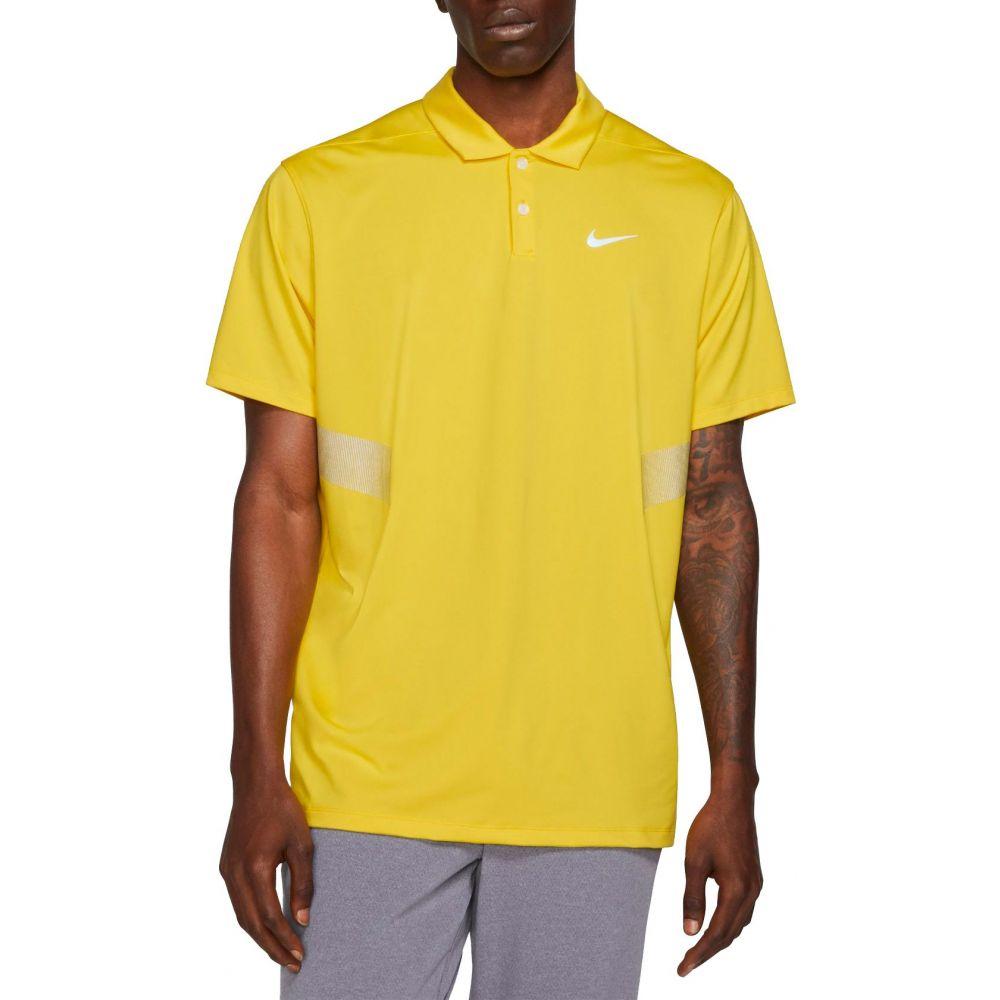 ナイキ Nike メンズ ゴルフ ポロシャツ トップス【Vapor Reflective Golf Polo】Chrome 黄
