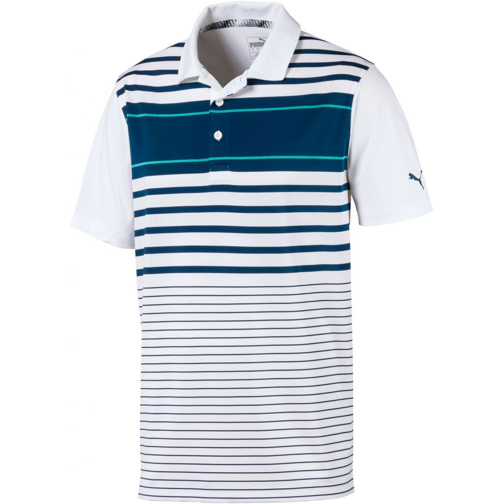 プーマ PUMA メンズ ゴルフ ポロシャツ トップス【Spotlight Golf Polo】Gibraltar Sea/Blue Turq