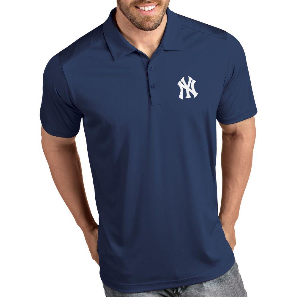 アンティグア Antigua メンズ ポロシャツ トップス【New York Yankees Tribute Navy Performance Polo】