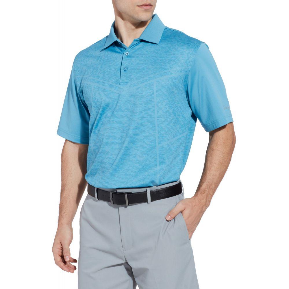 ウォルターヘーゲン Walter Hagen メンズ ゴルフ ポロシャツ トップス【11 Majors Body Map Printed Golf Polo】Niagara 青