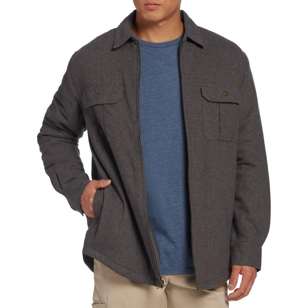 フィールドアンドストリーム Field & Stream メンズ フリース シャツジャケット トップス【Sherpa Lined Shirt Jacket】Dark Grey Hthr