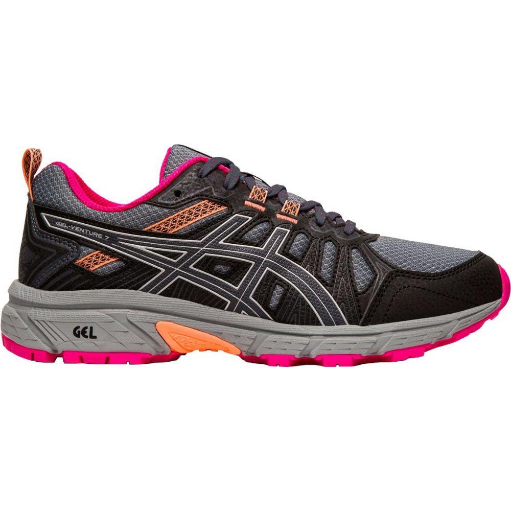アシックス ASICS レディース ランニング・ウォーキング シューズ・靴【GEL-Venture 7 Trail Running Shoes】Grey/Pink