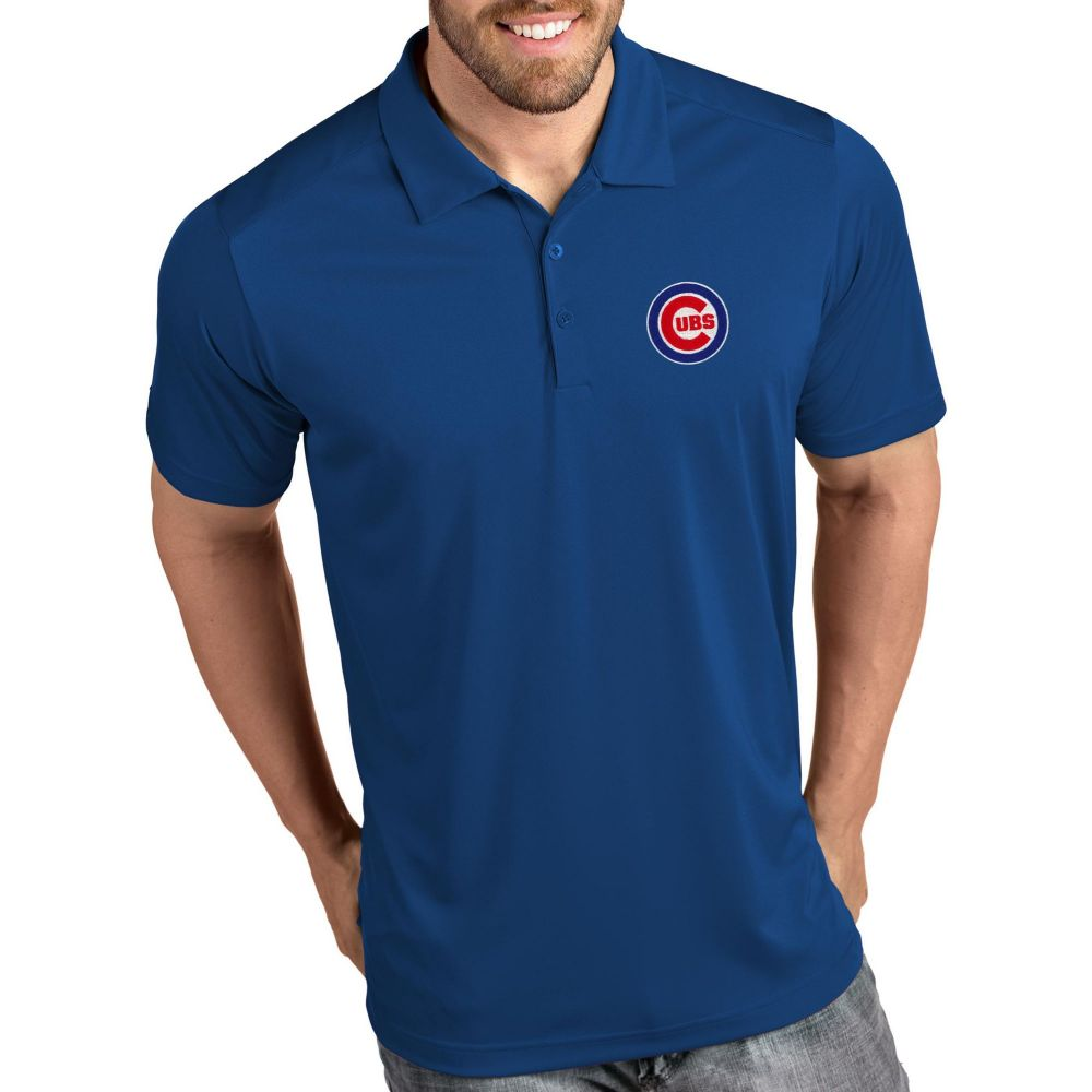 アンティグア Antigua メンズ ポロシャツ トップス【Chicago Cubs Tribute Royal Performance Polo】