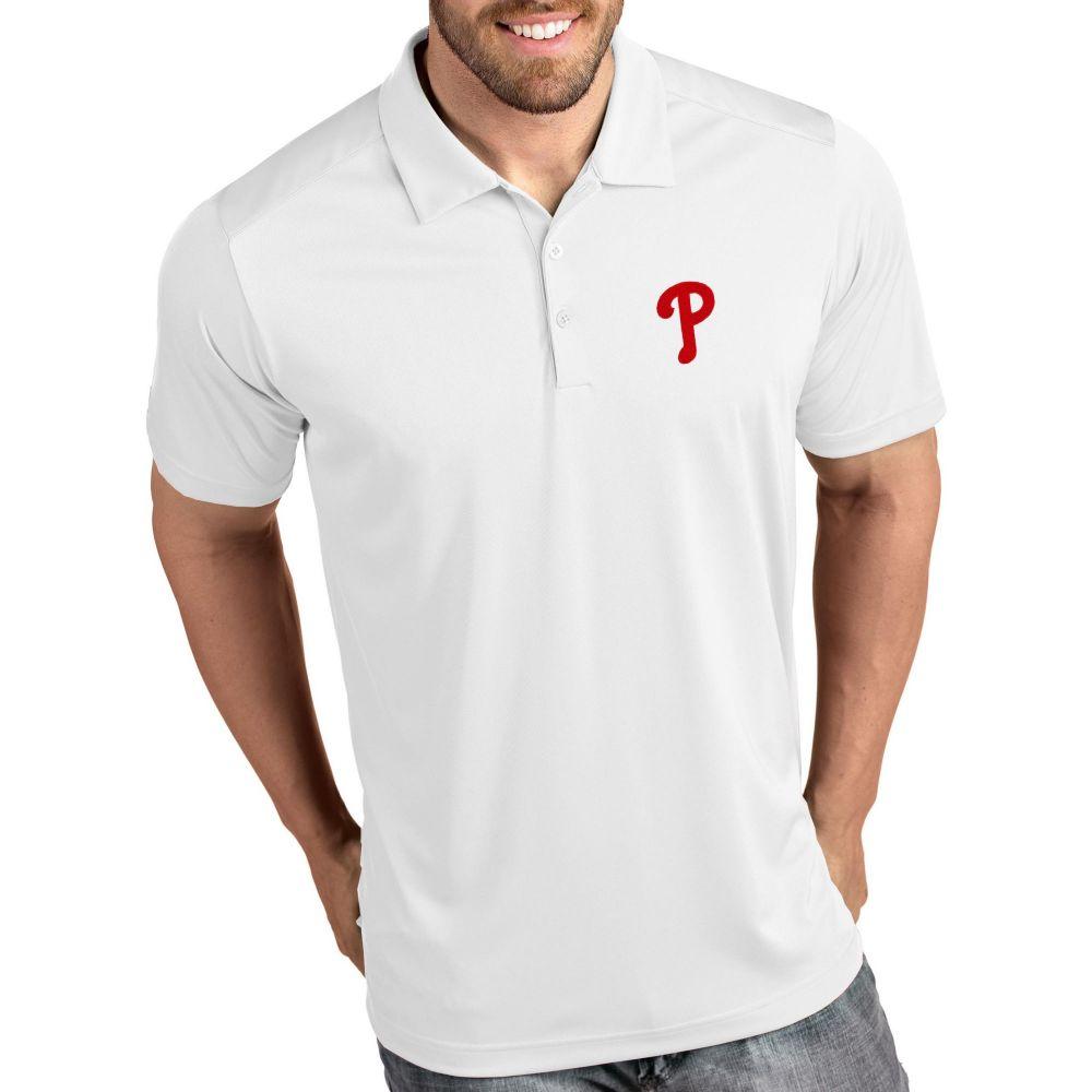 アンティグア Antigua メンズ ポロシャツ トップス【Philadelphia Phillies Tribute White Performance Polo】