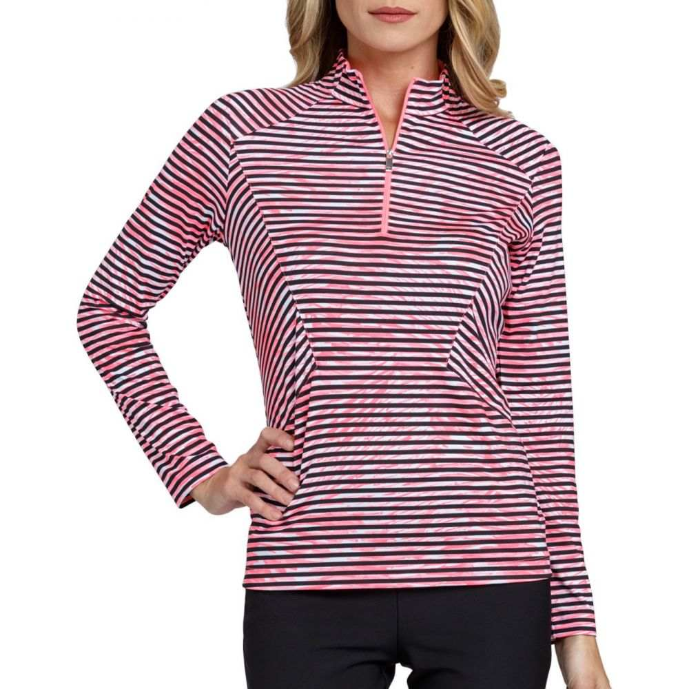 テイル Tail レディース ゴルフ トップス【Stylized Striped Mock Neck Golf Top】Plume