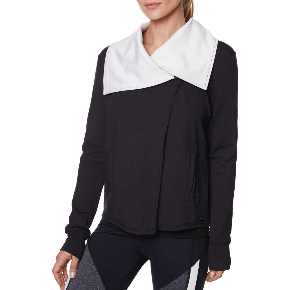 ベッツィ ジョンソン Betsey Johnson レディース ジャケット アウター【Drape Collar Asymmetric Jacket】Black/Ivory
