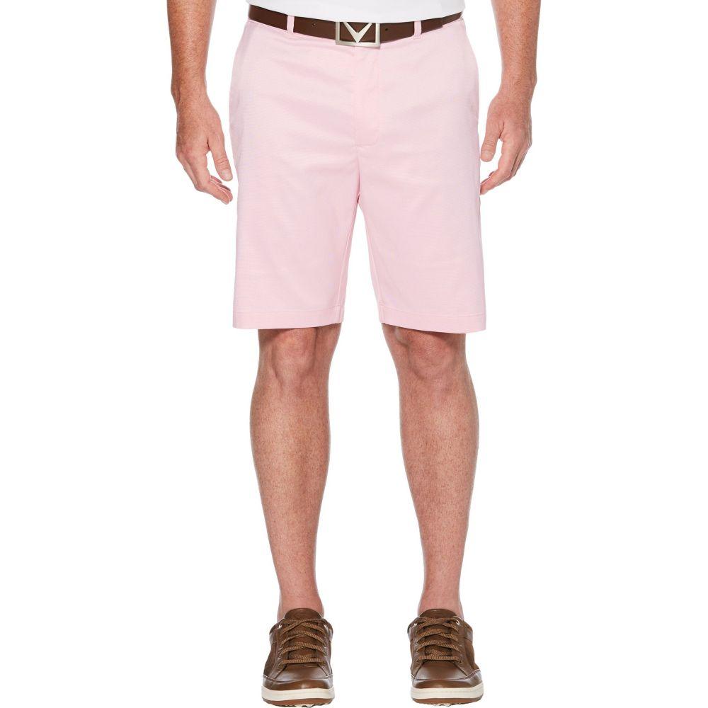 キャロウェイ メンズ ゴルフ ボトムス・パンツ 【サイズ交換無料】 キャロウェイ Callaway メンズ ゴルフ ショートパンツ ボトムス・パンツ【Flat Front Oxford Golf Shorts】Sachet Pink