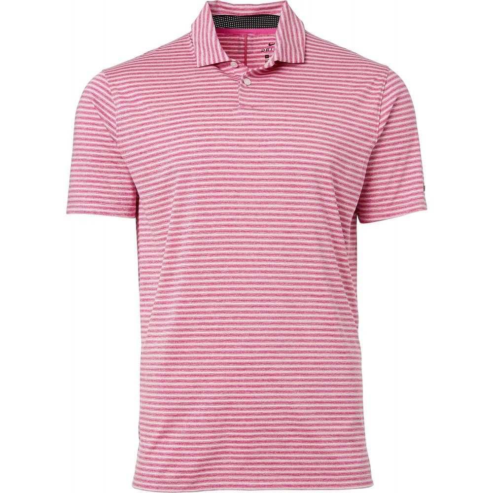 ナイキ Nike メンズ ゴルフ ポロシャツ トップス【Tiger Woods Vapor Stripe Golf Polo】Active Fuchsia