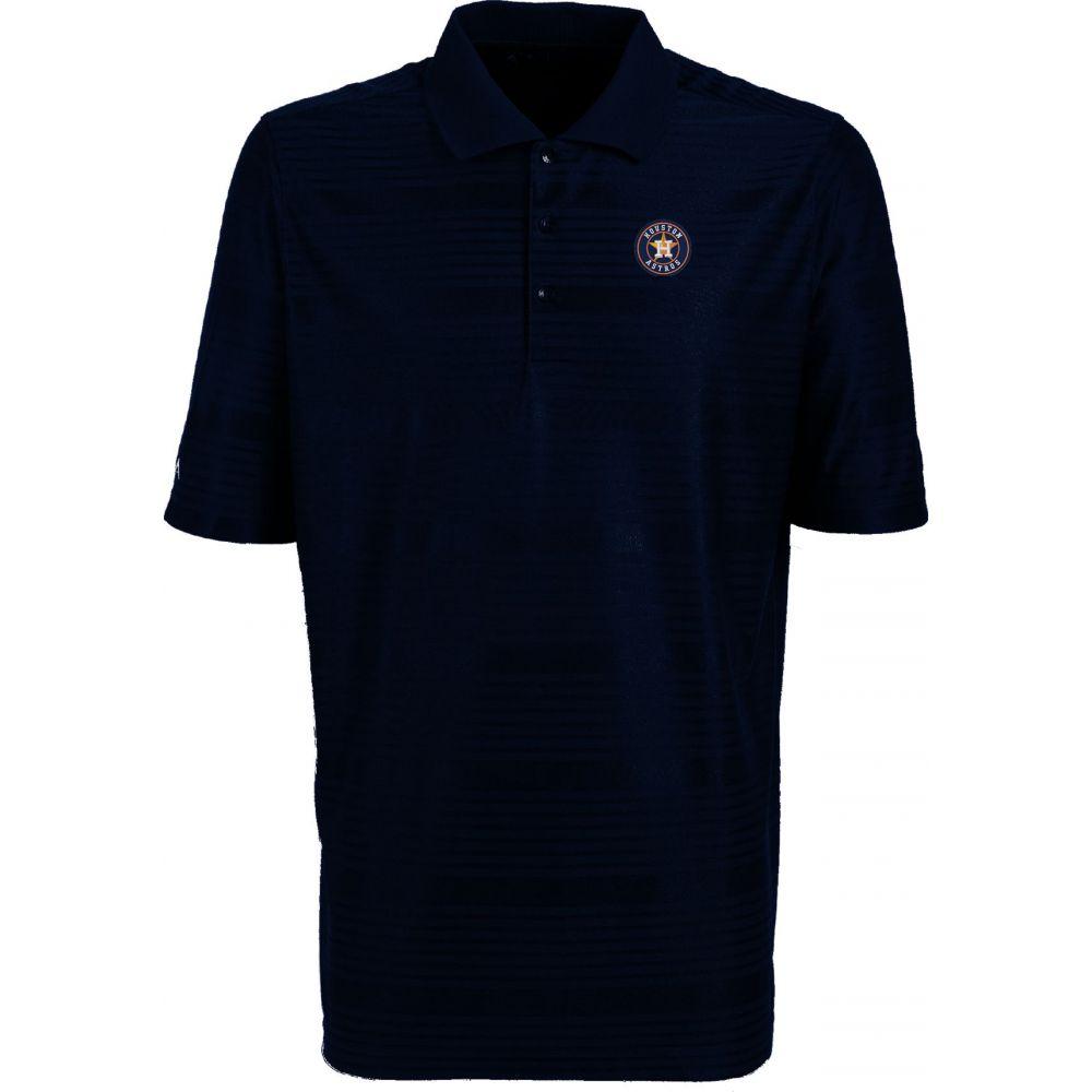 アンティグア Antigua メンズ ポロシャツ トップス【Houston Astros Illusion Navy Striped Performance Polo】