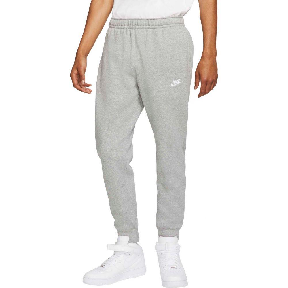 ナイキ Nike メンズ ジョガーパンツ ボトムス・パンツ【Sportswear Club Fleece Joggers】Dk Gry Htr/Matte Slvr/Wte