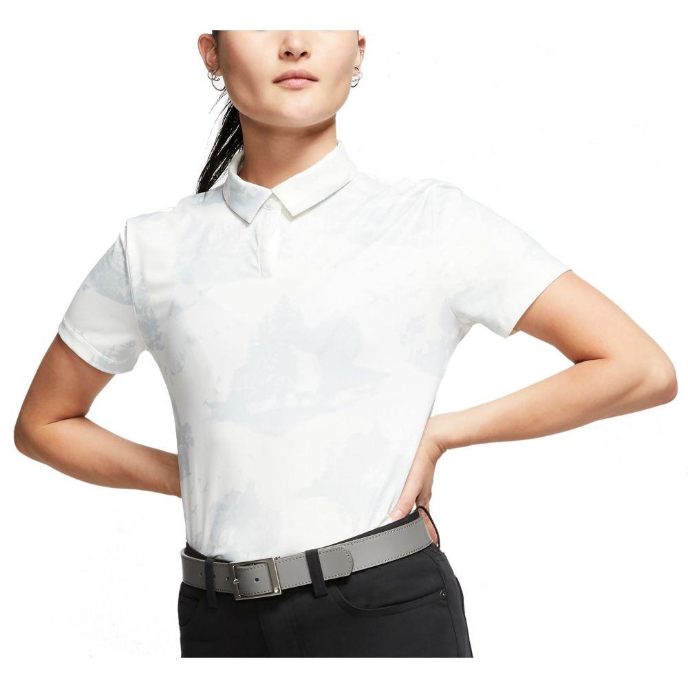 ナイキ Nike レディース ゴルフ ドライフィット 半袖 トップス【Dri-FIT UV Printed Short Sleeve Golf Polo】Sail