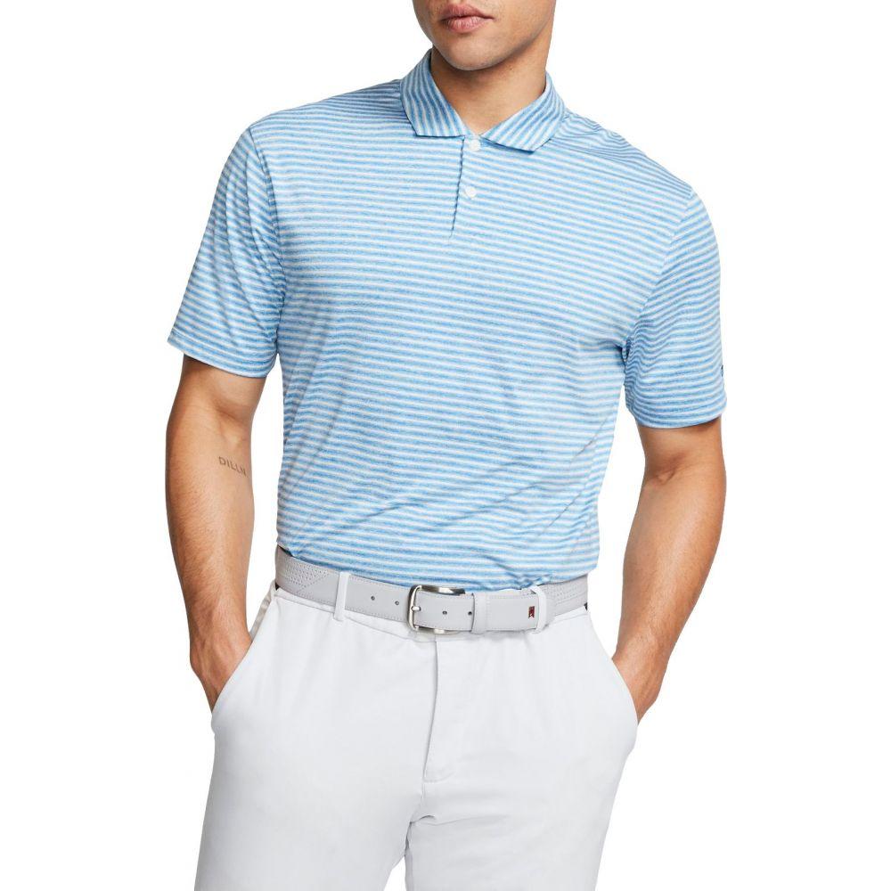 ナイキ Nike メンズ ゴルフ ポロシャツ トップス【Tiger Woods Vapor Stripe Golf Polo】Photo Blue