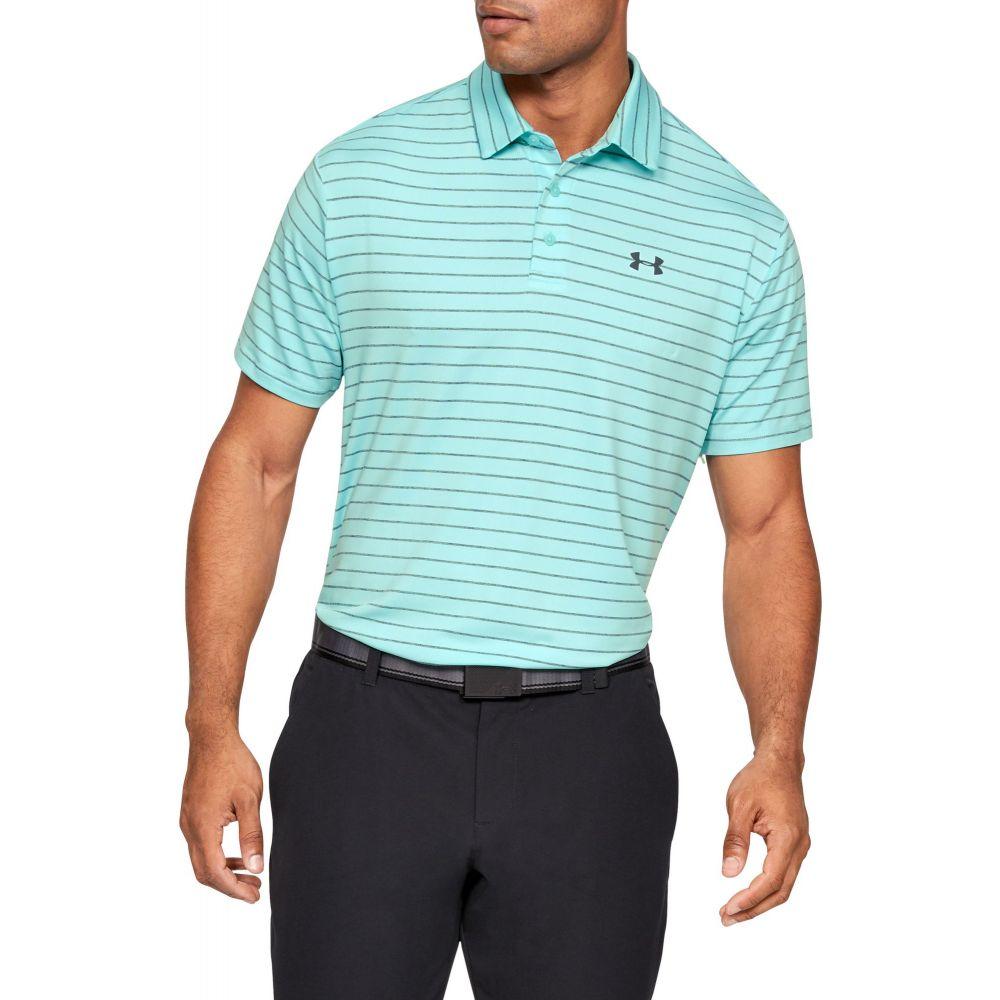 アンダーアーマー Under Armour メンズ ゴルフ ポロシャツ トップス【Playoff 2.0 Tour Stripe Golf Polo】Neo Turquoise/Batik